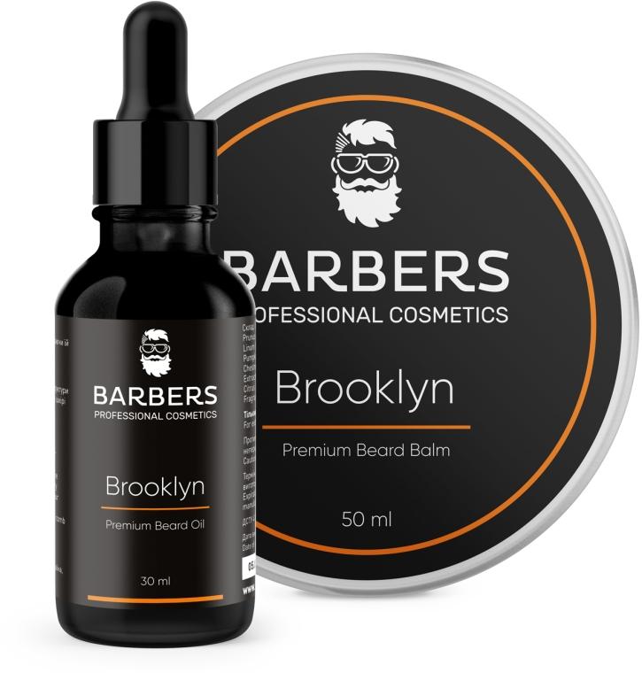 Набор - Barbers Brooklyn (beard/oil/30ml + beard/balm/50ml)