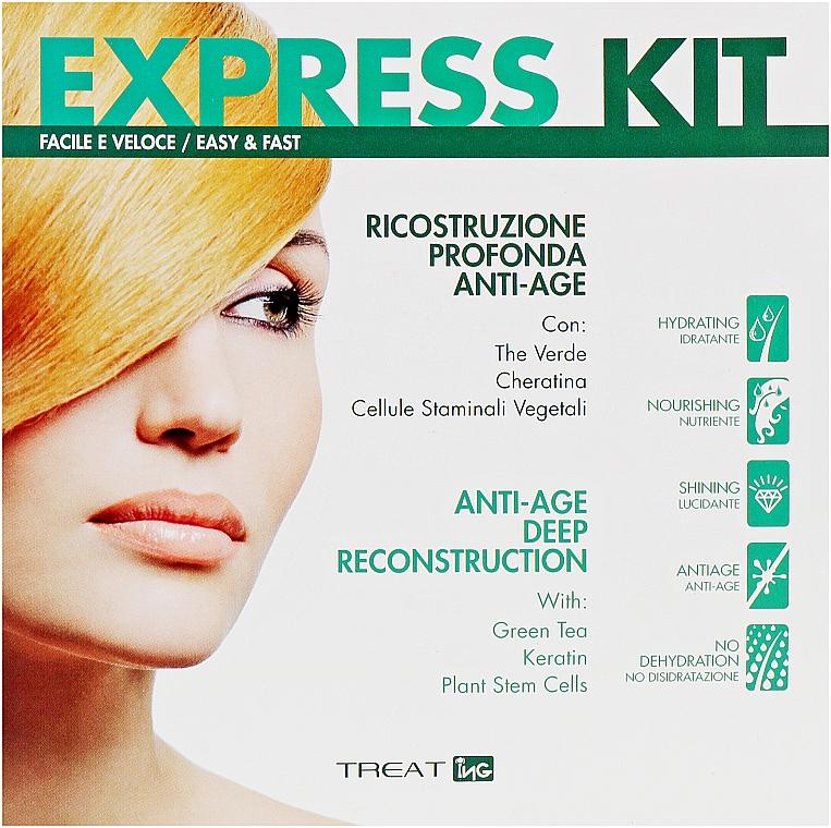 Набор для шокового восстановления волос - ING Professional Treat Express Kit Tower