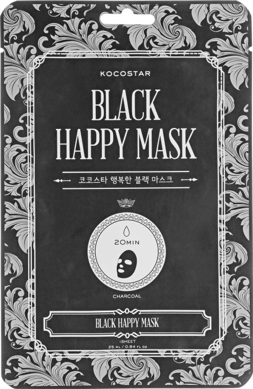 Очищающая маска для лица - Kocostar Black Happy Mask