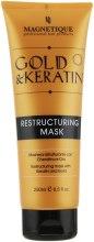 Духи, Парфюмерия, косметика Восстанавливающая маска для волос, с кератином и микроактивним золотом - Magnetique Gold&Keratin Oil Restructuring Mask