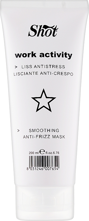 Маска разглаживающая для волос - Shot Smoothing Anti-Frizz Mask Work Activity