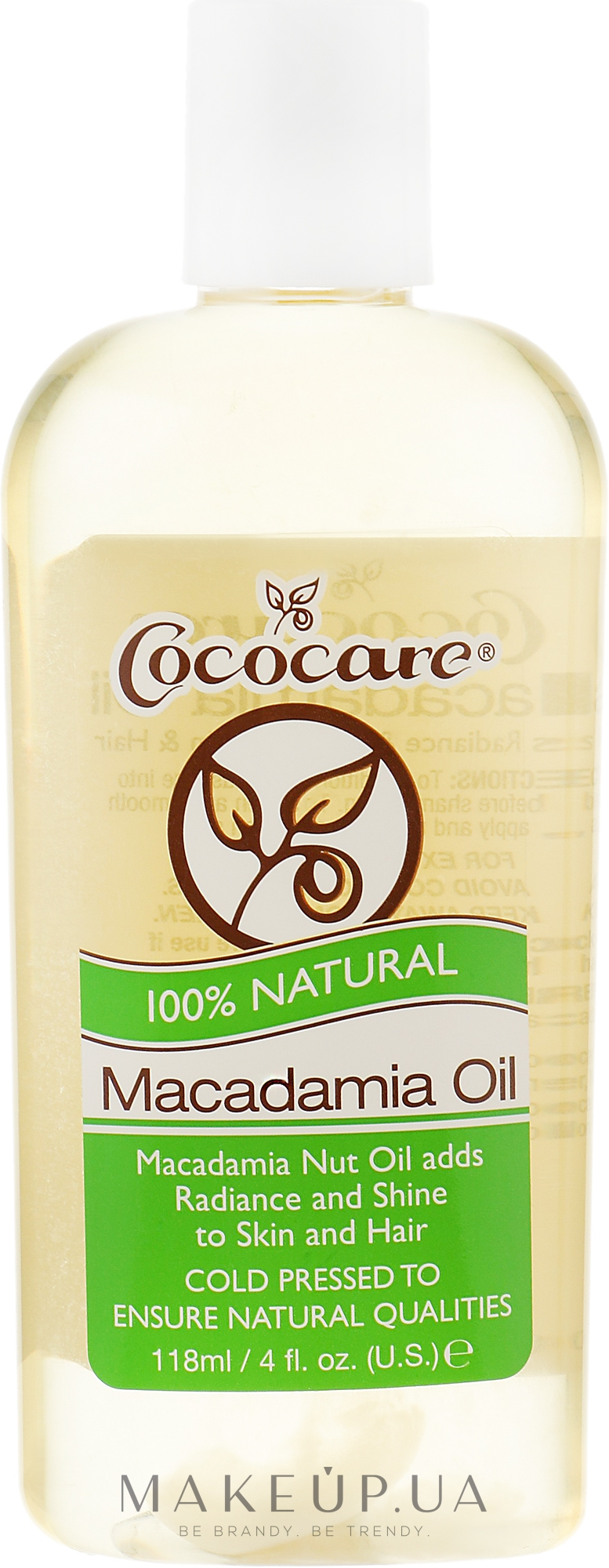 Натуральне масло макадамії - Cococare 100% Macadamia Natural Oil — фото 118ml