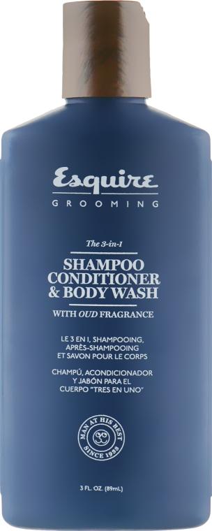 Шампунь-гель для душа 3 в 1 для мужчин - CHI Esquire Grooming The 3 in 1 Shampoo Conditioner & Body Wash