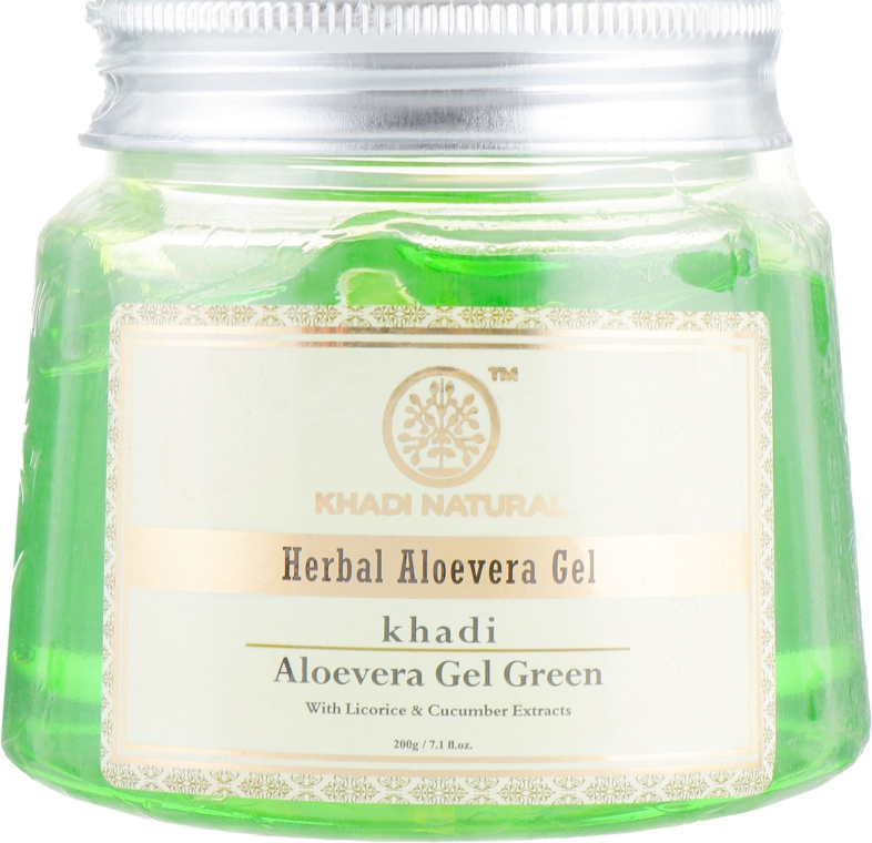 "Гель ""Алоэ Вера"" - Khadi Natural Herbal Aloevera Gel Green"