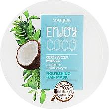 Духи, Парфюмерия, косметика Питательная маска для волос с кокосовым маслом - Marion Enjoy Coco Nourishing Hair Mask
