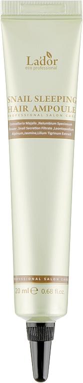 Ночная кератиновая сыворотка для волос - La'dor Sleeping Clinic Ampoule