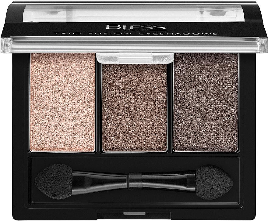 Тройные тени для век - Bless Beauty Trio Fusion Eyeshadows