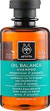 Духи, Парфюмерия, косметика Шампунь балансирующий для очень жирных волос с перечной мятой и прополисом - Apivita Oil Balance Shampoo With Peppermint & Propolis