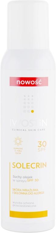 Солнцезащитное сухое масло для тела в спрее - Iwostin Solecrin Dry Oil SPF30