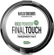Парфумерія, косметика Рисова пудра фіксатор для обличчя - BelorDesign Final Touch