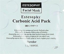 Духи, Парфюмерия, косметика Маска для карбокситерапии лица - Estesophy Carbonic Acid Pack Platina