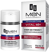 Духи, Парфюмерия, косметика Крем для лица против морщин - AA Men Advanced Care Vital 40+ Face Cream Anti-Wrinkle