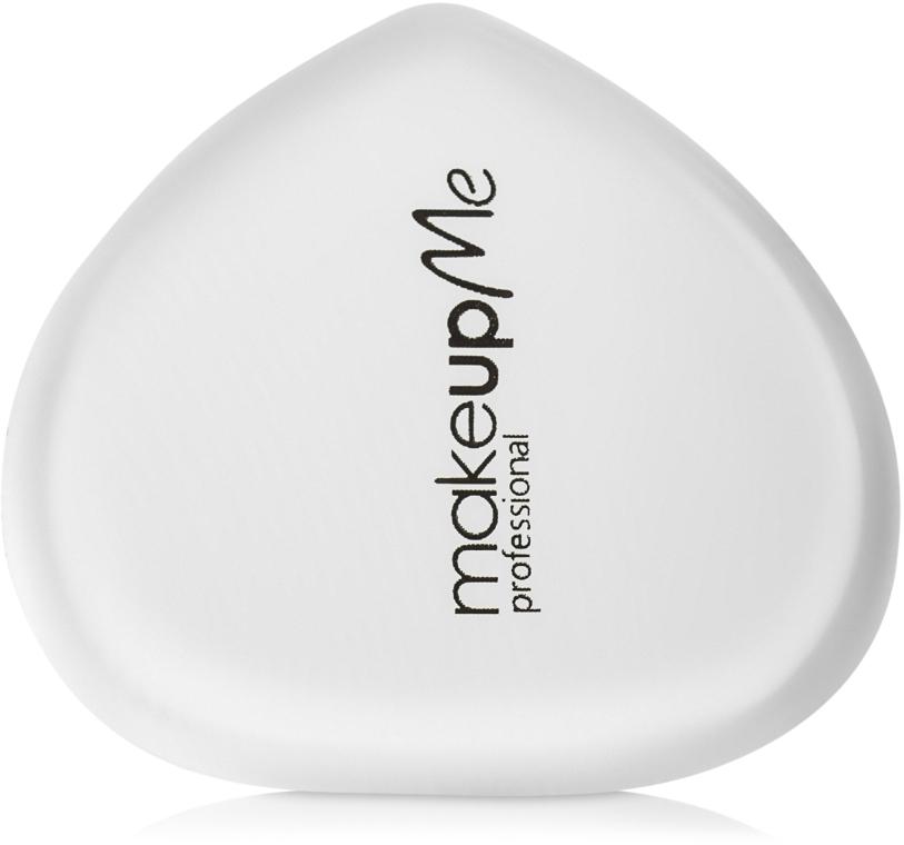 Силиконовый спонж для макияжа сердцеобразной формы, белый - Make Up Me Siliconepro
