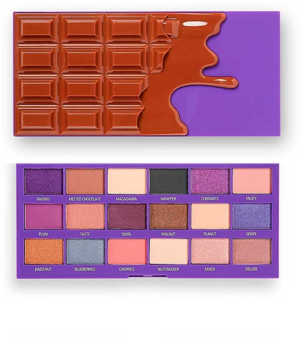 Палетка теней для век - I Heart Revolution Chocolate Eyeshadow Palette Fruit and Nut