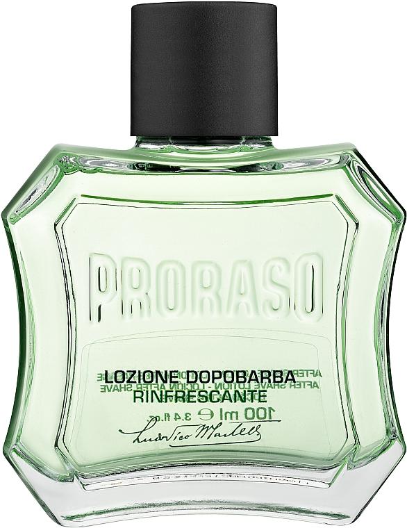 Лосьон после бритья с ментолом и эвкалиптом - Proraso Green After Shave Lotion