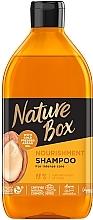 Духи, Парфюмерия, косметика Шампунь для питания и интенсивного ухода за волосами с аргановым маслом холодного отжима - Nature Box Nourishment Vegan Shampoo with cold pressed Argan oil