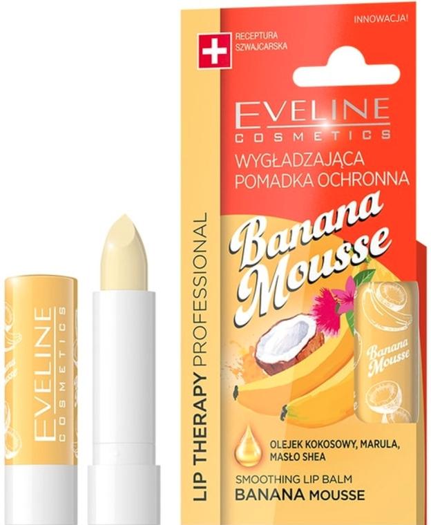 "Бальзам для губ ""Банановый мусс"" - Eveline Cosmetics Lip Therapy Smoothing Balm Banana Mousse"