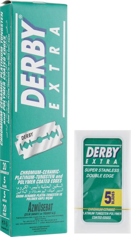 Лезвия, 100 шт. - Derby Extra Double Edge Razor Blades