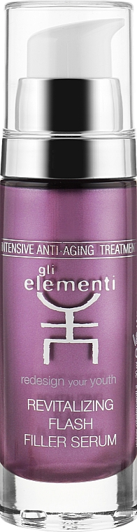 Відновлююча сиворотка-заповнювач - Gli Elementi Revitalizing Flash Filler Serum — фото N1