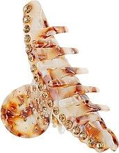 """Духи, Парфюмерия, косметика Крабик для волос """"Дуга со стразами"""", 291, бежево-коричневый - Элита"""