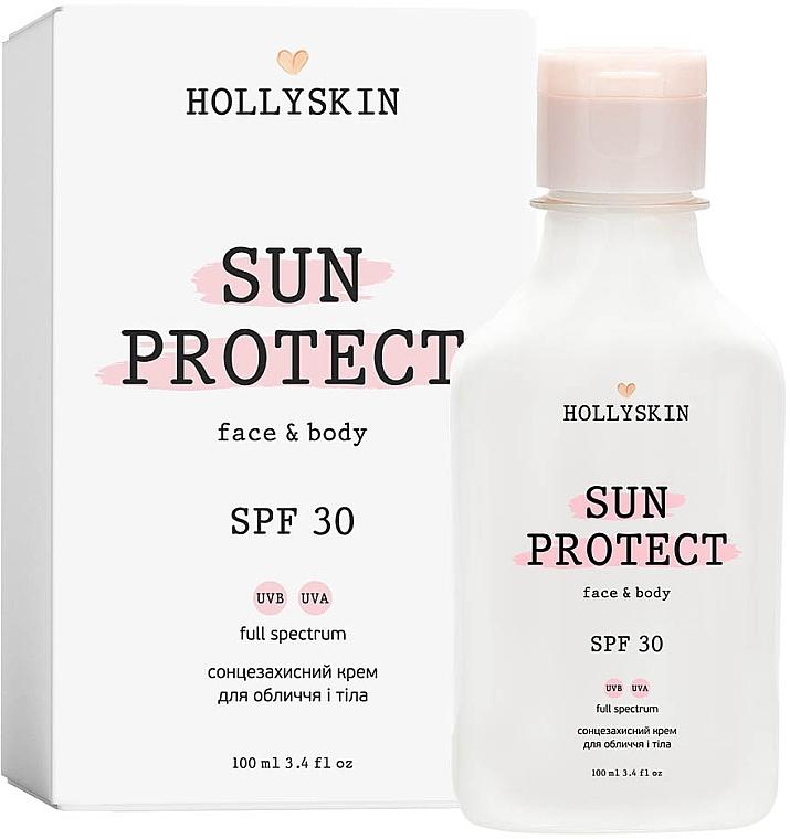 Солнцезащитный крем для лица и тела - Hollyskin Sun Protect Face&Body Cream SPF 30