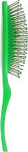 Щітка масажна 11 рядів, зелена - Titania — фото N3