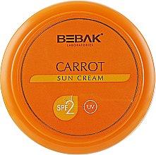 Духи, Парфюмерия, косметика Крем для безопасного загара с экстрактом моркови - Bebak Laboratories Sun Care Cream Carrot SPF2