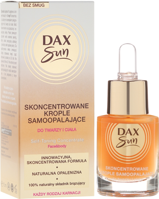 Концентрат для автозагара - Dax Sun Self-tanning Concentrated Drops