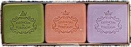 Духи, Парфюмерия, косметика Набор - Essencias De Portugal Aromas Collection Autumn Set (soap/3x80g)