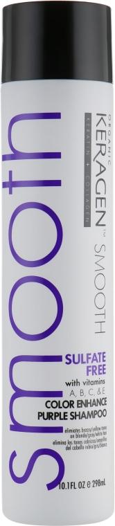 Шампунь для светлых и окрашенных волос - Organic Keragen Color Enhance Purple Shampoo