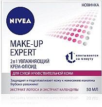 Духи, Парфюмерия, косметика Крем-флюид увлажняющий 2в1 для сухой и чувствительной кожи - Nivea Make-up Expert Cream