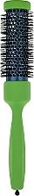 Парфумерія, косметика Брашинг з професійним термостійким нейлоном d 32,5 mm, зелений - 3ME Maestri
