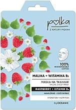 """Духи, Парфюмерия, косметика Тканевая маска """"Малина и витамин B3"""" - Polka Raspberry And Vitamin B3 Facial Sheet Mask"""