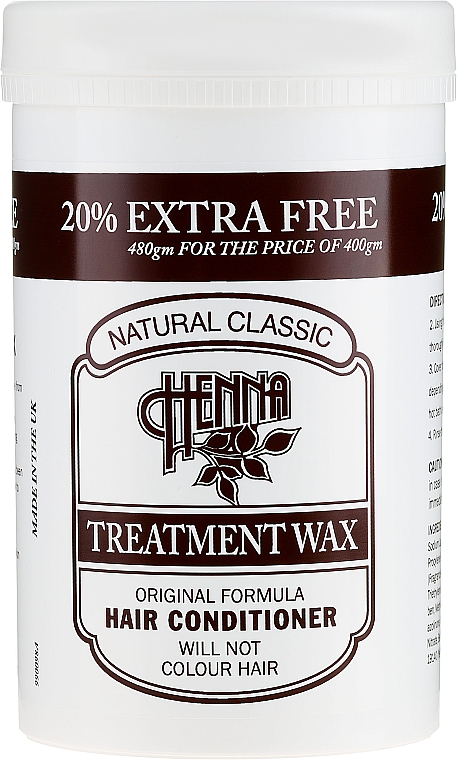 "Кондиционер для волос ""Хна"" - Natural Classic Henna Treatment Wax Hair Conditioner"