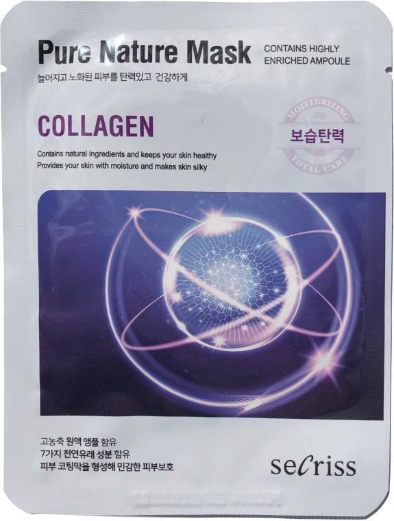 """Тканевая маска для лица """"Коллаген"""" - Secriss Pure Nature Collagen Mask"""