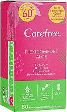 Духи, Парфюмерия, косметика Гигиенические прокладки, 60 шт. - Carefree Flexi Comfort Aloe Extract