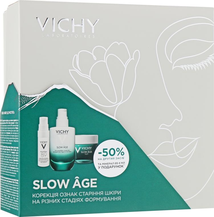 Набор - Vichy Slow Age (fluid/50ml + night/cr/50ml + gel/4ml)