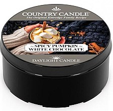 Духи, Парфюмерия, косметика Чайная свеча - Country Candle Spicy Pumpkin White Chocolate Daylight