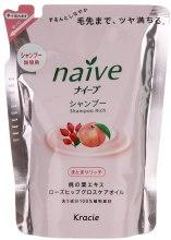 Духи, Парфюмерия, косметика Шампунь восстанавливающий с экстрактом персика и маслом шиповника - Kanebo Naive (сменный блок)