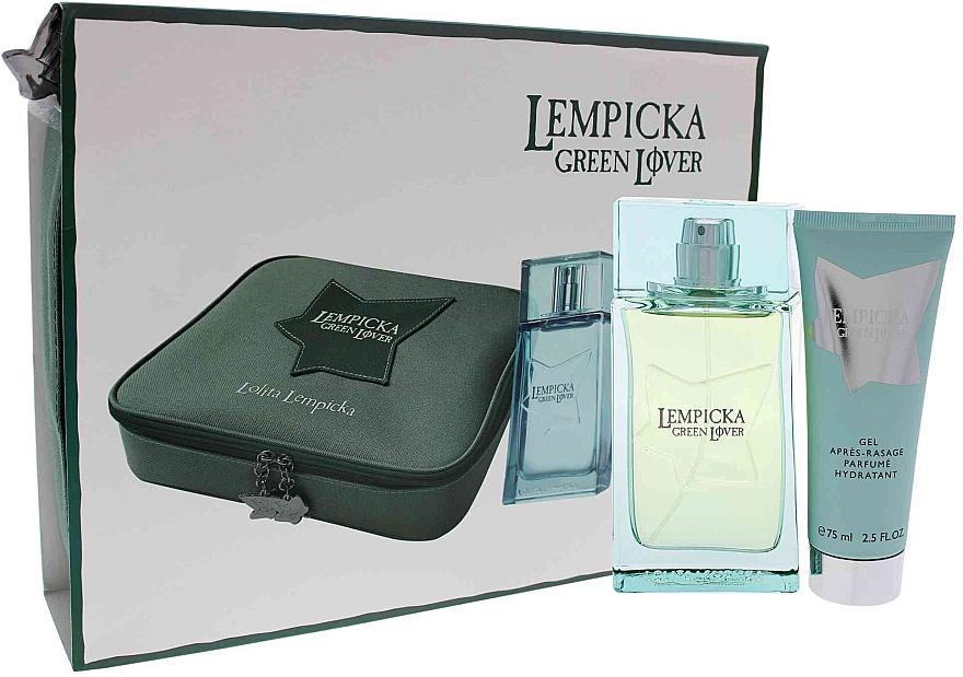 Lolita Lempicka Green Lover - Набор (edt/100ml + afsh/gel/75ml + pouch)