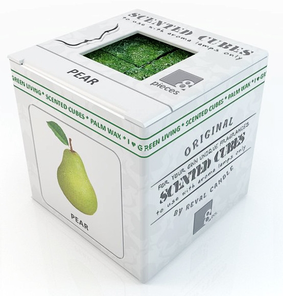 """Аромакубики """"Груша"""" - Scented Cubes Pear Candle"""