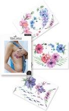 Духи, Парфюмерия, косметика Флеш-тату акварельные переводные - Miami Tattoos Flower Power