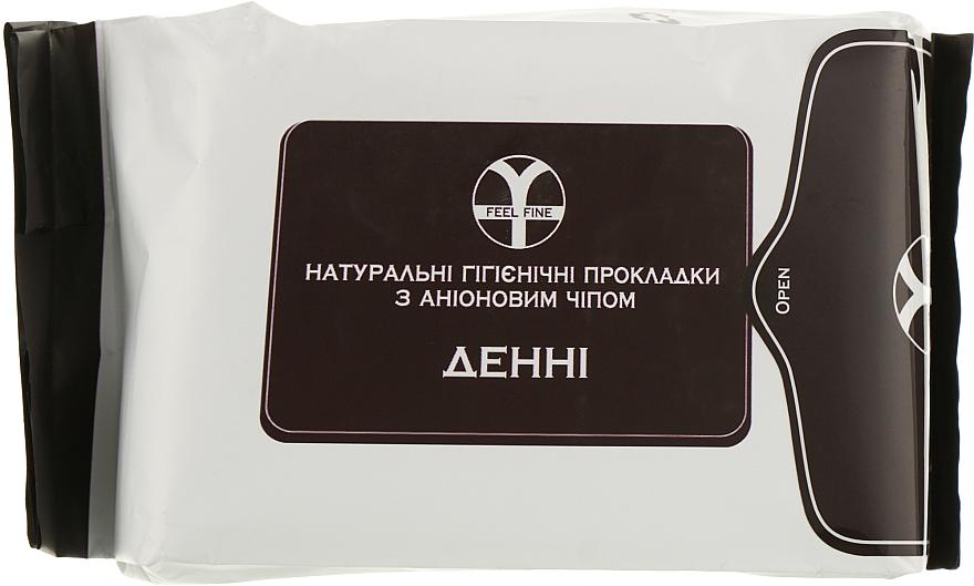 Дневные натуральные гигиенические прокладки с анионовым чипом - Feel Fine