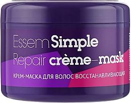 Духи, Парфюмерия, косметика Крем-маска для волос восстанавливающая - Essem Simple Care Repair Cream-Mask