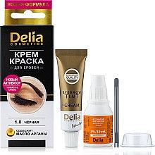 Духи, Парфюмерия, косметика Крем-краска для бровей и ресниц, черная - Delia Brow Dye Black 1.0