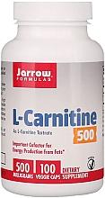 "Духи, Парфюмерия, косметика Пищевые добавки ""L-карнитин 500"" - Jarrow Formulas L-Carnitine 500mg"