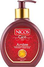 Духи, Парфюмерия, косметика Жидкое парфюмированное мыло - Nicos Perfumed Liquid Ambre Soap
