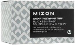Духи, Парфюмерия, косметика Разглаживающая морщины мгновенная маска с экстрактом черных бобов - Mizon Enjoy Fresh On-Time Black Bean Mask