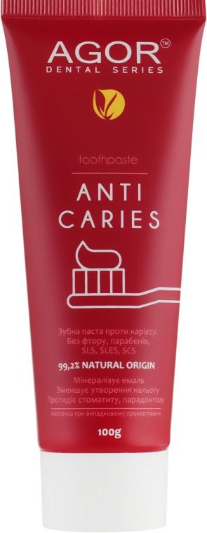 """Зубная паста """"Антикариесная"""" с гранатом и орехом - Agor Anti Caries Toothpaste"""