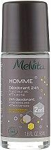 Парфумерія, косметика Роликовий дезодорант - Melvita Homme Deodorant 24h